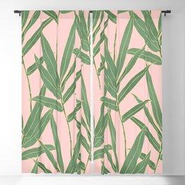Elegant bamboo foliage design Blackout Curtain