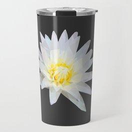 White Lotus Flower Travel Mug