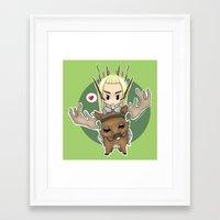 thranduil Framed Art Prints featuring  Thranduil by YattaGiulia