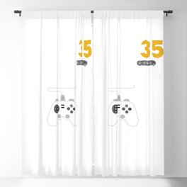 Level 35 Complete Birthday Gift TShirt Celebrate 35th Wedding Blackout Curtain