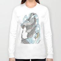 mermaids Long Sleeve T-shirts featuring mermaids 5 by winnie patterson