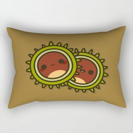 Cute Conkers Rectangular Pillow