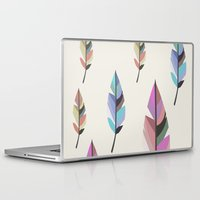 feathers Laptop & iPad Skins featuring Feathers by 83 Oranges™