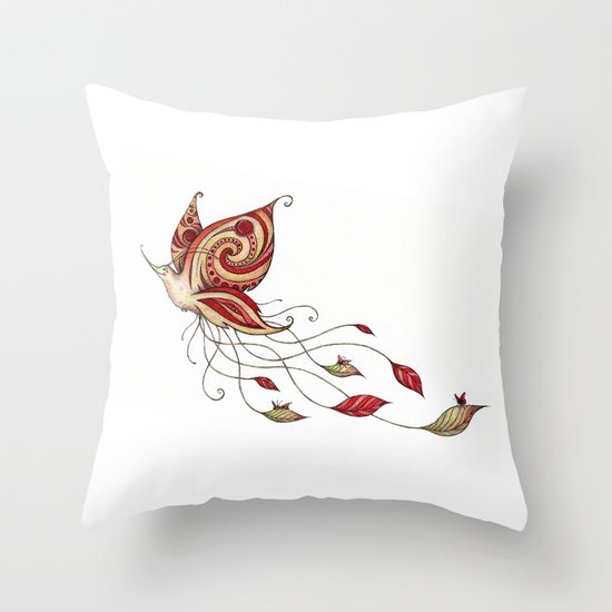 Hummerfly Throw Pillow