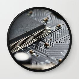 Elements of electronic circuit board Wall Clock