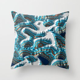 Colorful Canyon Landscape Throw Pillow