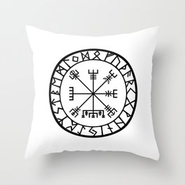 Norse - Vegvisir Throw Pillow
