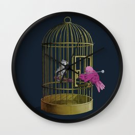 Oh l'amour! Wall Clock