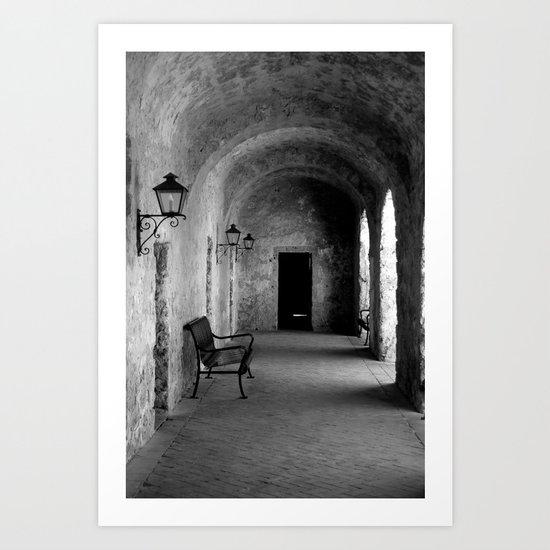 Mission Corridor Art Print