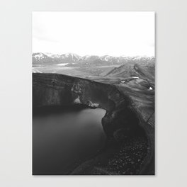 Finland View (Black and White) Canvas Print