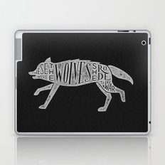 These Were The Wolves She Rode to War - Wolf by Wolf Laptop & iPad Skin