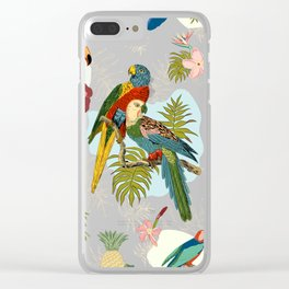 Parrots and Tropical Clear iPhone Case
