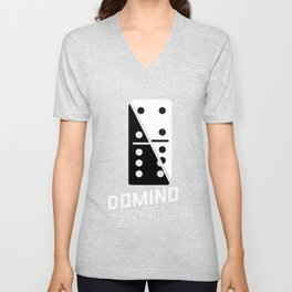 Domino Switch Dominoes Tiles Puzzler Game Gift Unisex V-Neck