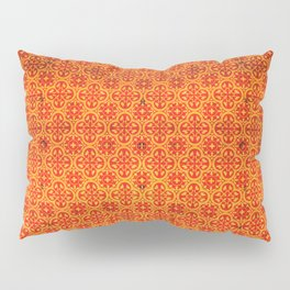 N67 - Yellow & Red Vintage Antique Geometric Traditional Moroccan Style. Pillow Sham