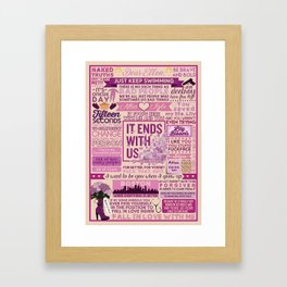 It Ends With Us Book Collage Framed Art Print