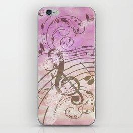 Music Notes Flutter 2 iPhone Skin