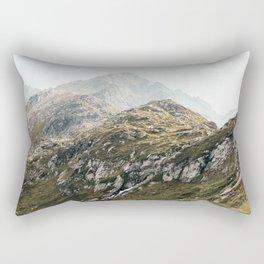 Rugged Mountains Rectangular Pillow