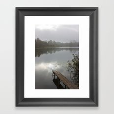 Mist on lake Framed Art Print