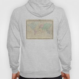 Vintage Map of The World (1862) Hoody