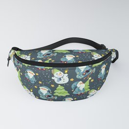 Christmas Winter Pattern Fanny Pack