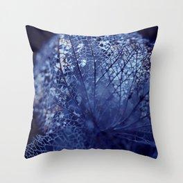 Disintegration in Blue Throw Pillow