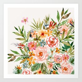SMELLS LIKE LOVE IN ALL FORMS Floral Art Print