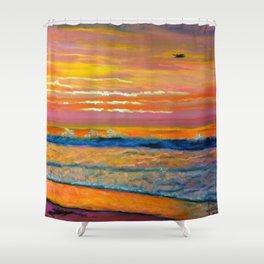 JONES BEACH  Shower Curtain