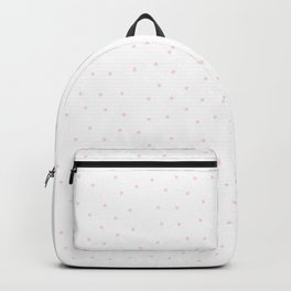 Simple Christmas seamless pattern Pastel Pink Confetti on White Background Backpack