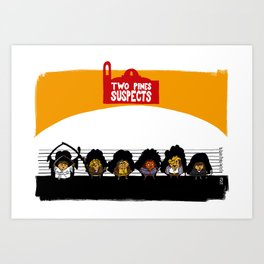UNUSUAL SUSPECTS : Two Pines Art Print