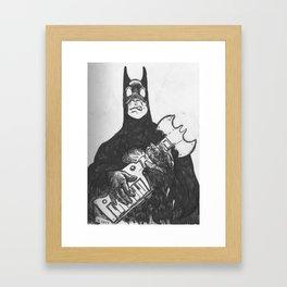 Bat Keytar  Framed Art Print