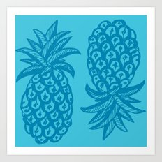 Pineapple Ocean Art Print