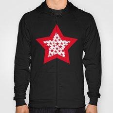 Red stars on white background illustration Hoody