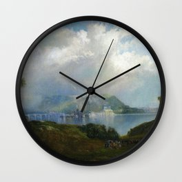 View Of Fairmont Waterworks Philadelphia 1860 By Thomas Moran | Reproduction Wall Clock