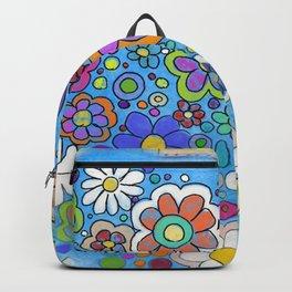 sarape y flore Backpack