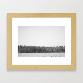 Tundra forest Framed Art Print