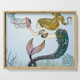 Jellyfish and Mermaid Serving Tray