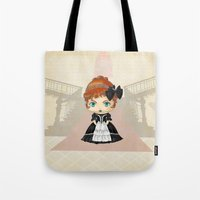 emily rickard Tote Bags featuring Emily by artwaste