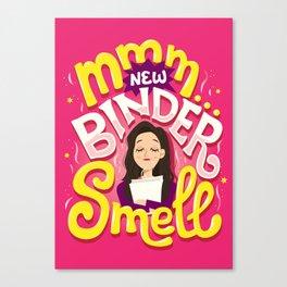 New Binder Smell Canvas Print
