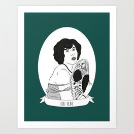 Lili Elbe Illustrated Portrait Art Print