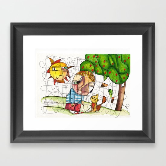 Do you want to play with me? Framed Art Print