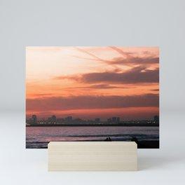 Long Beach Sunset II Mini Art Print