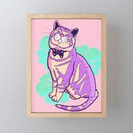 Happy Cat Framed Mini Art Print