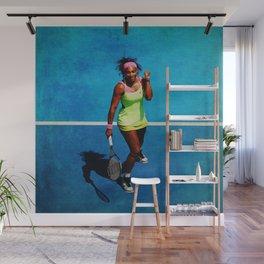 Serena Williams Tennis Celebrating Wall Mural