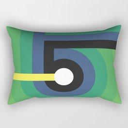 Number Five Rectangular Pillow