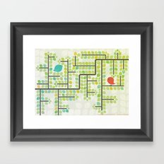 Green labyrinth Framed Art Print