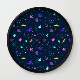 Whimsy Pattern for Fun People Wall Clock