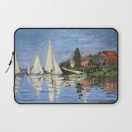 Claude Monet Regattas at Argenteuil Laptop Sleeve