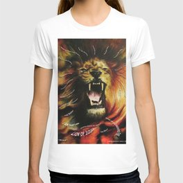 roar lion with type T-shirt
