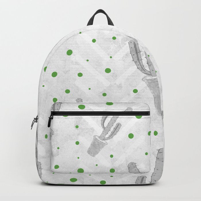 Cactus Polka Dots Pattern Backpack