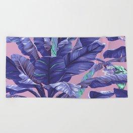 Banana Leaf love Beach Towel